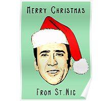 12 Days of Cagemas / Nic Cage / Nicolas Cage / Nicolas Cage Christmas / Funny Christmas Poster