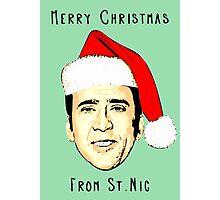 12 Days of Cagemas / Nic Cage / Nicolas Cage / Nicolas Cage Christmas / Funny Christmas Photographic Print