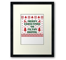 Filthy Animal Sweater Framed Print