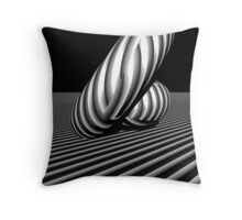3d abstract stripe play Throw Pillow