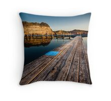 Old Planks of North Narrabeen Throw Pillow