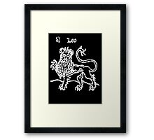 Signs of the Zodiac, LEO, The Lion, Birth Star, Horoscope, Astrology Framed Print