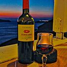 Wine in Fira by Barbara  Brown