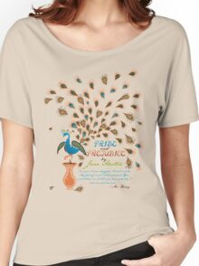 Paisley Peacock Pride and Prejudice: Modern Women's Relaxed Fit T-Shirt