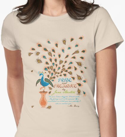 Paisley Peacock Pride and Prejudice: Modern Womens Fitted T-Shirt
