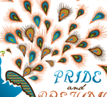 Paisley Peacock Pride and Prejudice: Modern Sticker