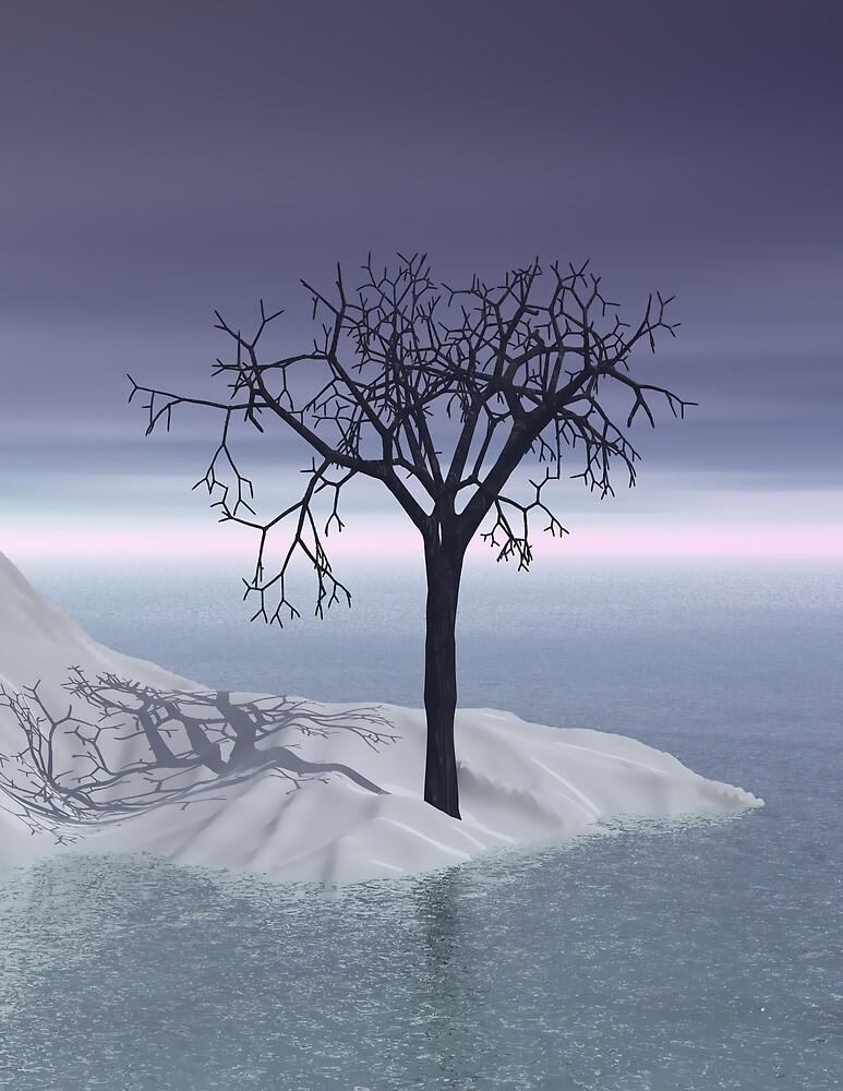 3d Scandinavian winter twilight by pelmof