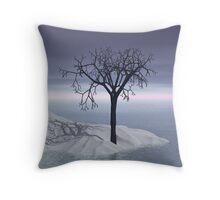 3d Scandinavian winter twilight Throw Pillow