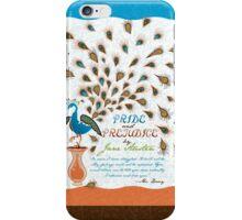 Paisley Peacock Pride and Prejudice: Modern iPhone Case/Skin