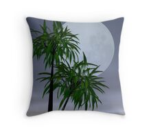 Lover's moon in the tropics Throw Pillow