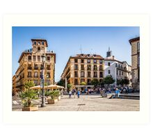 Ramales Square in Madrid Art Print