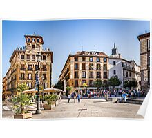 Ramales Square in Madrid Poster