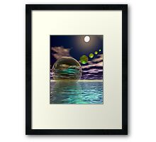 Night invasion of the spheres Framed Print