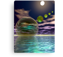 Night invasion of the spheres Canvas Print