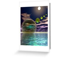 Night invasion of the spheres Greeting Card