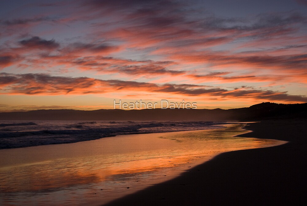 Ocean Sunset by Heather Davies
