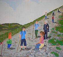 Pilgrimage at Croagh Patrick by Joni Philbin
