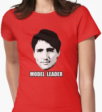 Trudeau: Model Leader Womens Fitted T-Shirt