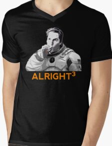 Alright Cubed Mens V-Neck T-Shirt