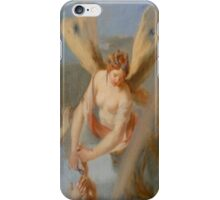 Angel with wings, Cutting Hair, Angelic, Hairdresser iPhone Case/Skin