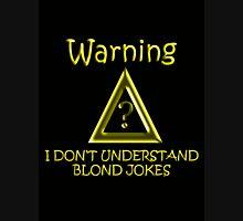 Blond Jokes Womens Fitted T-Shirt