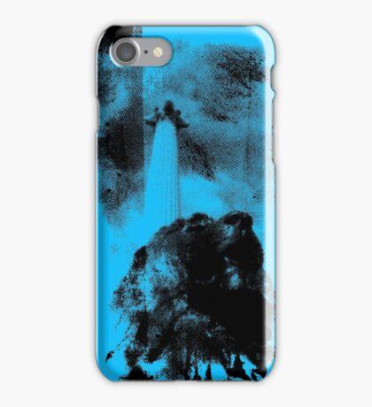 Trafalgar Square Lion, London UK Blue iPhone Case/Skin