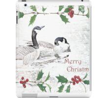 "Nostalgic Geese ""Merry Christmas"" ~ Greeting Card iPad Case/Skin"