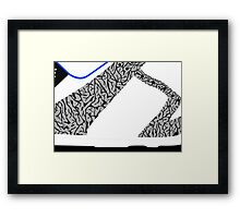 Made in China SB x Superme White/Cement - Pop Art, Sneaker Art, Minimal Framed Print