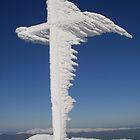 Cross on Carrauntoohil (Corrán Tuathail) (1039m) Kerry Ireland by amuigh-anseo