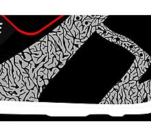 Made in China SB x Superme Black/Cement - Pop Art, Sneaker Art, Minimal Photographic Print