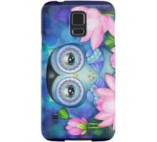 Owl in Lotus Pond Samsung Galaxy Case/Skin