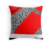 Made in China SB x Superme Red/Cement - Pop Art, Sneaker Art, Minimal Throw Pillow