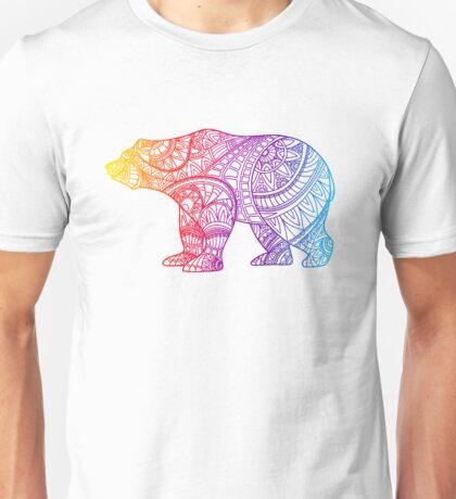 Colorful Rainbow  Bear Unisex T-Shirt