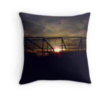 Sunrise Through Steel Throw Pillow