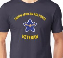 South African Air Force (SAAF) Veteran (Yellow Text) Unisex T-Shirt