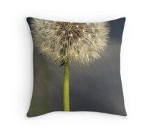 Seeded Dandelion Throw Pillow