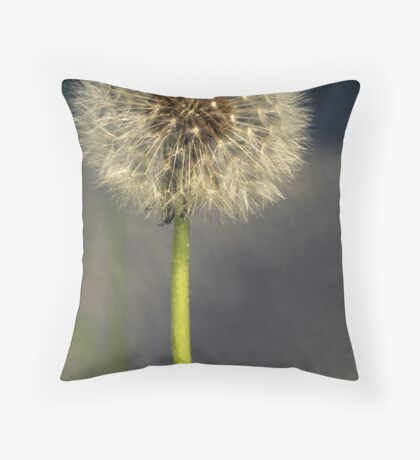 Seeded Dandelion Throw Pillow