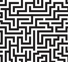 Maze Pattern by DetourShirts