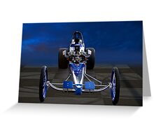 Nostalgia Top Fuel Dragster 1 Greeting Card