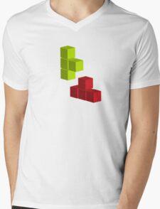 Tetris 1 Mens V-Neck T-Shirt