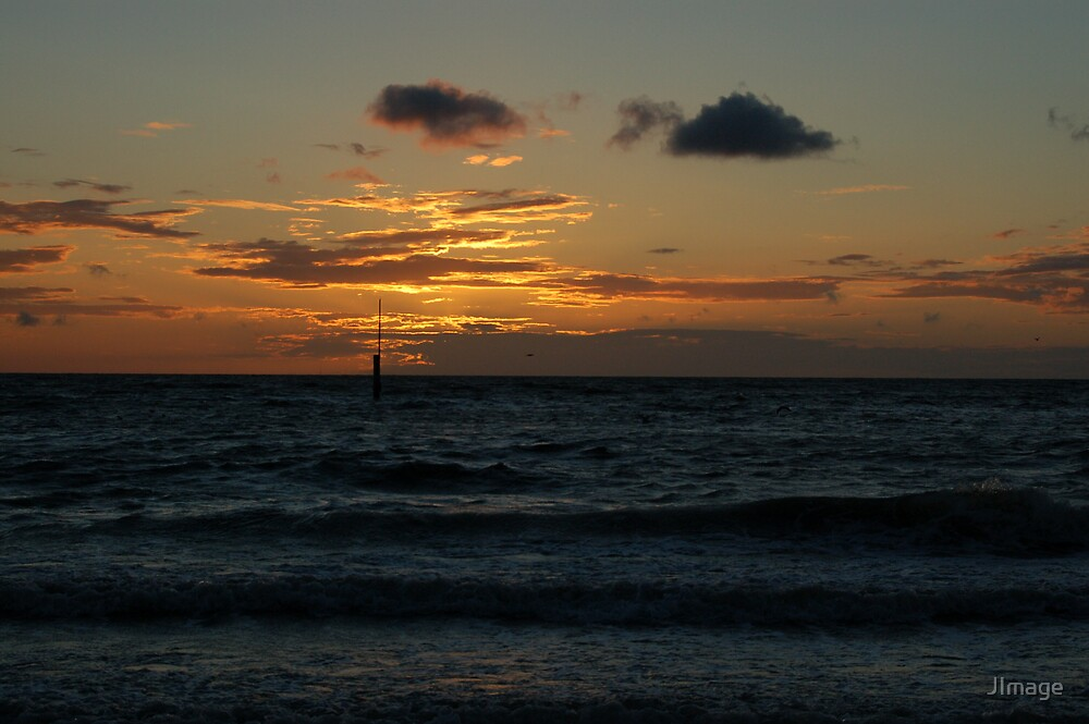 Sunset @ Rhyl Beach 4 by JImage