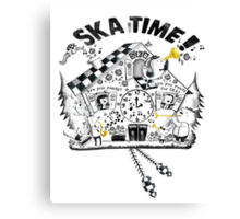 2 Tone Ska Time Cuckoo Clock Canvas Print