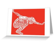 Seattle Grunge Song Collage Greeting Card