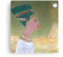 Nefertiti and the Golden Pyramid Canvas Print