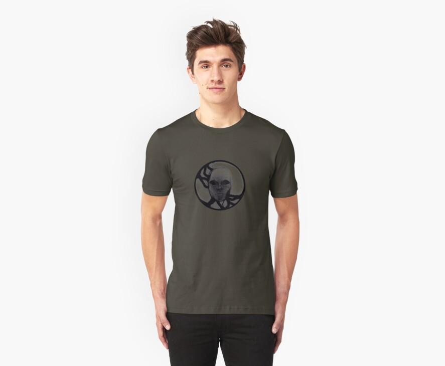 T-Shirt: Lightning Face Blackout by Jeremy Evans