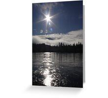 Yukon River Sunrise Greeting Card