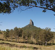 One of the Glasshouse Mountains near Brisbane in Queensland Australia by junjari