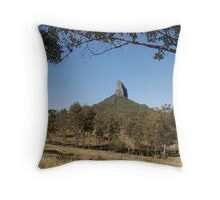 One of the Glasshouse Mountains near Brisbane in Queensland Australia Throw Pillow