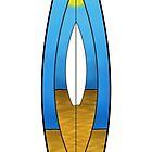 Surfboard Design T shirt by Fangpunk