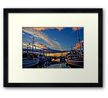 Hobart Docks Framed Print
